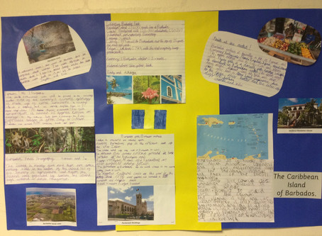 Year 3 Black History Month.  Finding out about Barbados.