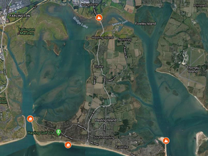 Cruisers round Hayling Island