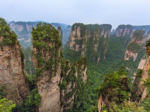 Les monts Tianzi de Zhangjiajie en Chine, montagnes du film Avatar