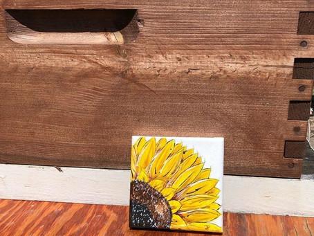 Sunflower Acrylic small canvas