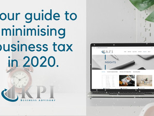 Your guide to minimising business tax in 2020.