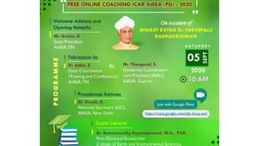 ICAR PG 2020 Free Online Coaching Inauguration