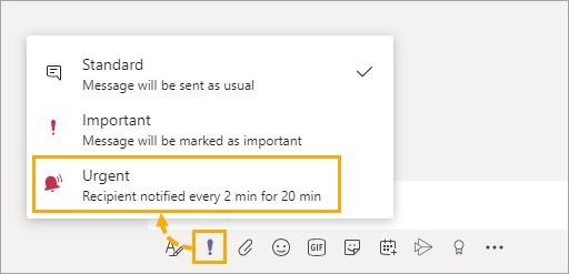 Skicka extra viktiga meddelanden i Teams