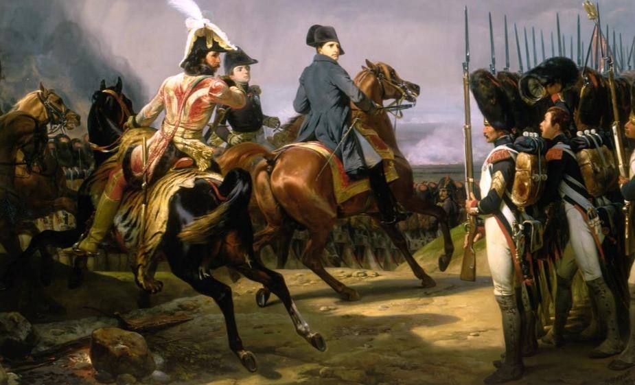 Napoléon à Iéna en 1806. Horace VERNET.