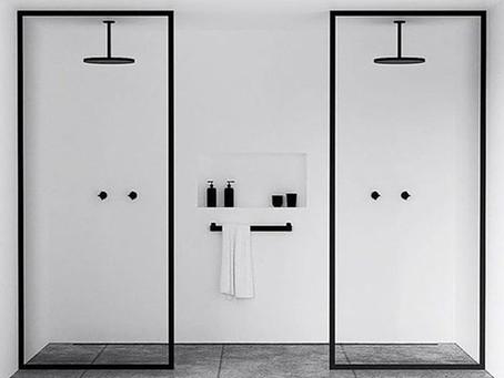 :: banheiro com detalhes em preto ::