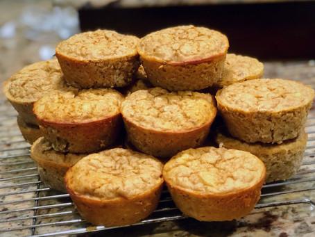 Muffins proteinés aux bananes (sans farine)