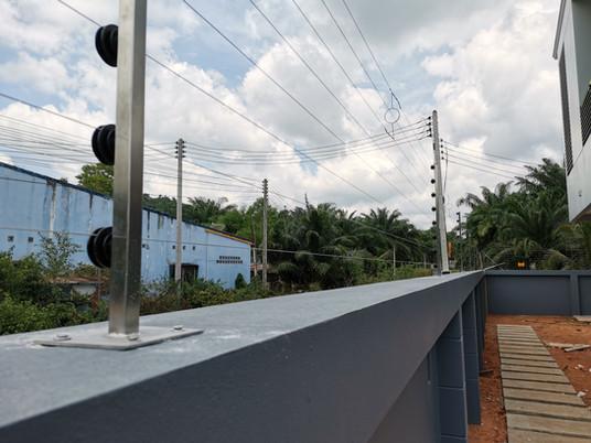 งานติดตั้งระบบรั้วไฟฟ้าแรงสูง จังหวัดชุมพร