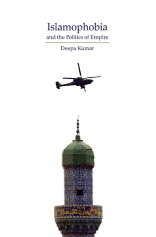 on this book cover a black helicopter flies above a minaret