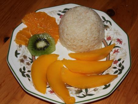 Riso al cocco con mango