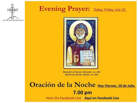 Friday Evening Prayer