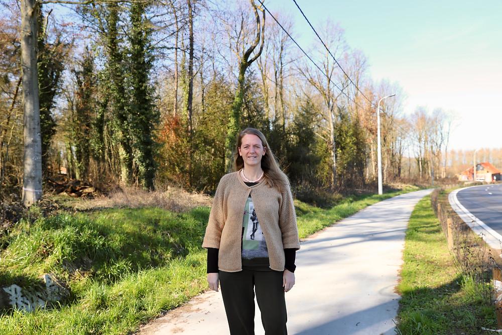 """""""Gevaarlijke situatie voor ruiter- en mennersroutes moeten aangepast worden"""" Patricia Waerniers."""