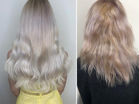 Studená blond 40cm prodloužené vlasy