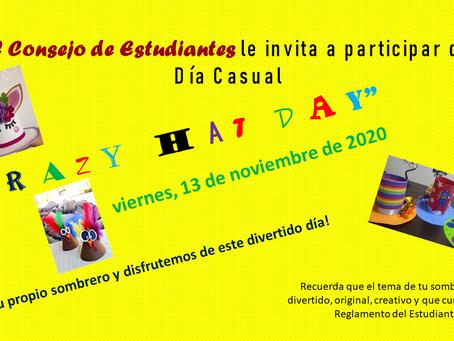 Casual Day (viernes, 13 de noviembre)