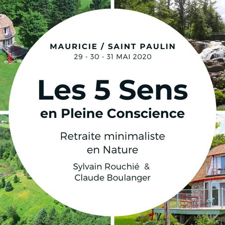 Retraite (3 jours) : Les 5 Sens en Pleine Conscience