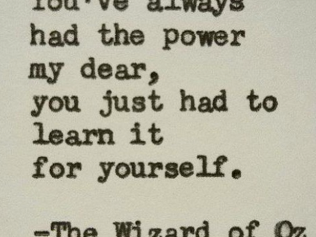 You have always had the power