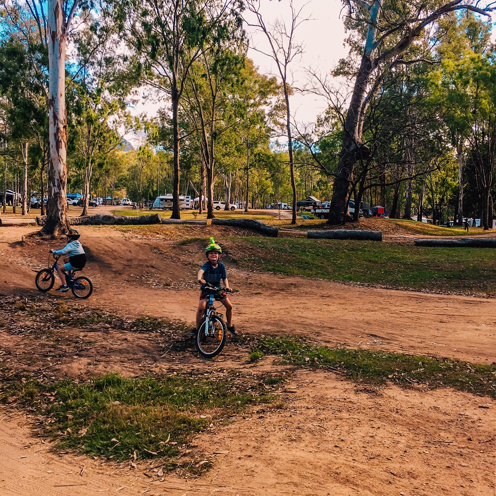 Bike track at Bigriggen Camping with Kids and Caravan Park Rathdowney