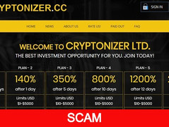 Cryptonizer.cc Review (SCAM): Hourly Paying Hyip Up To 4% Hourly