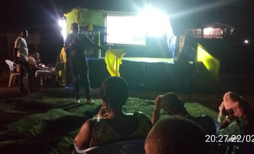 Pastor Abdul Conteh preaching