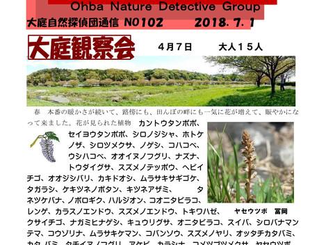 大庭自然探偵団通信 No.102