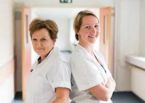 Rita Hietbrink (links) en Vicky Van Besien, Lymfekliniek UZ Gent