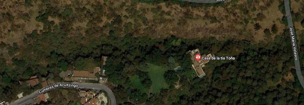 Supuesta ubicación de la casa de la tia Tona