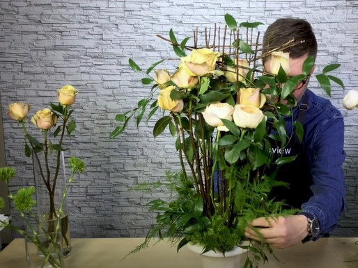 Contemporary Rose Topiary Floral Design How-to
