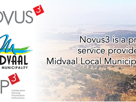 Novus3 is a proud service provider to Midvaal Local Municipality