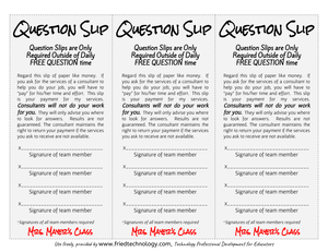 Question Slips