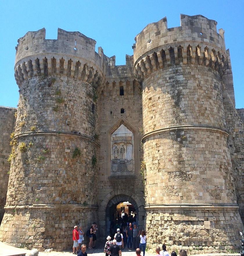 העיר העתיקה רודוס, שער המרינה, מסלול טיול ברודוס