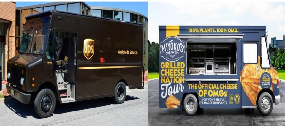Types of vehicles used for food trucks