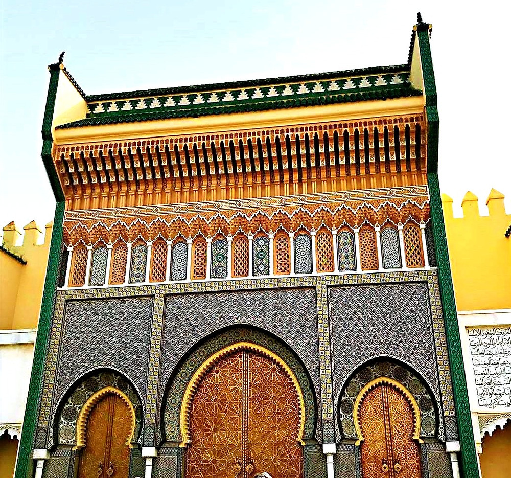 Morocco Fes Royal palace golden gate