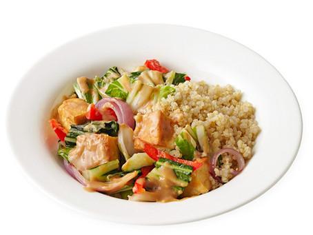 Tofu Stir-Fry with Spicy Peanut Sauce Recipe