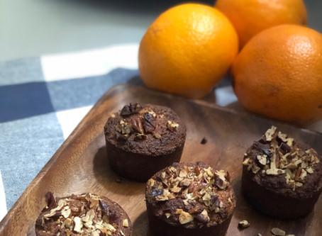 Orange-coconut muffins