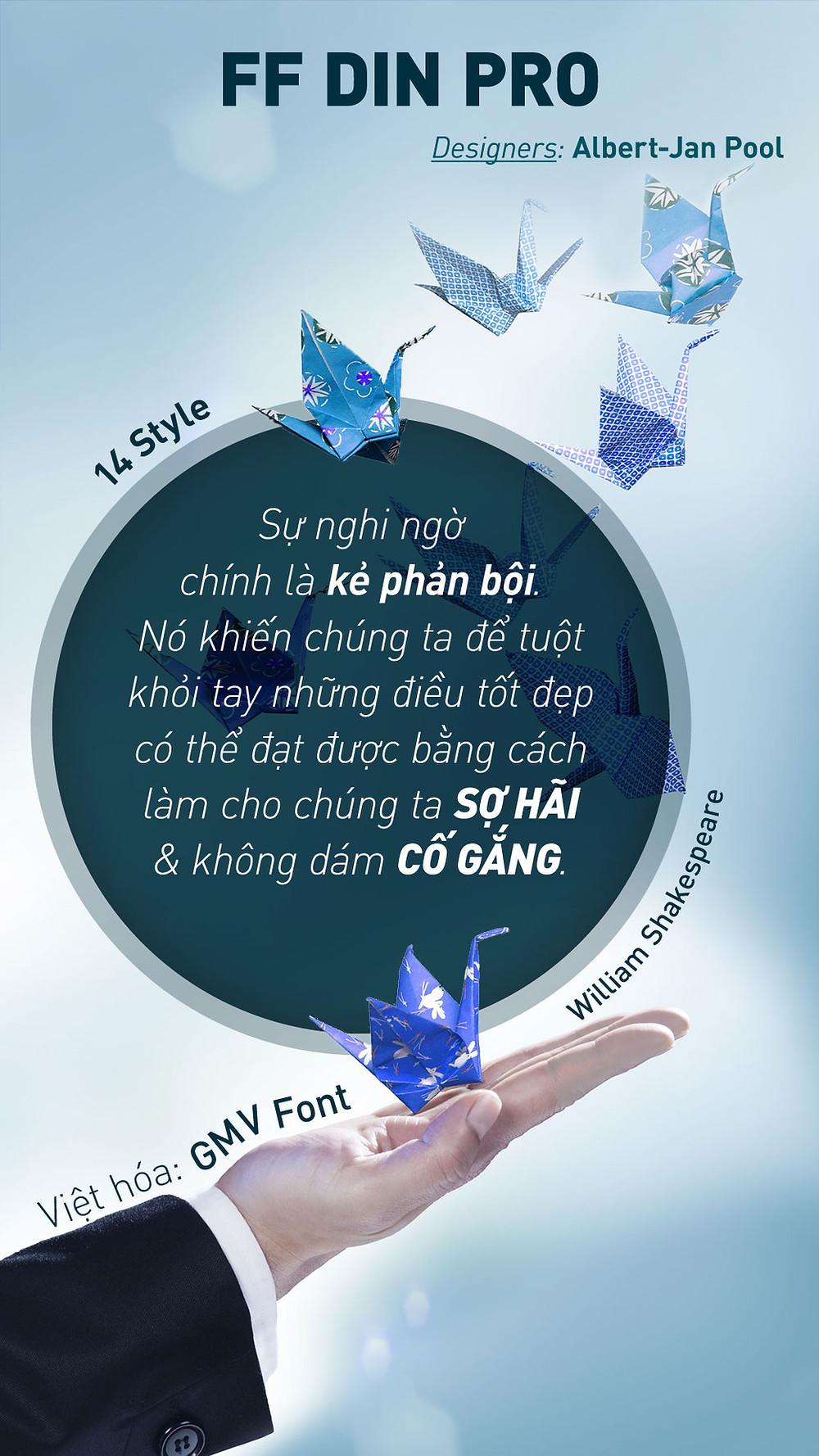 Font GMV FF Din Pro Full Việt Hóa