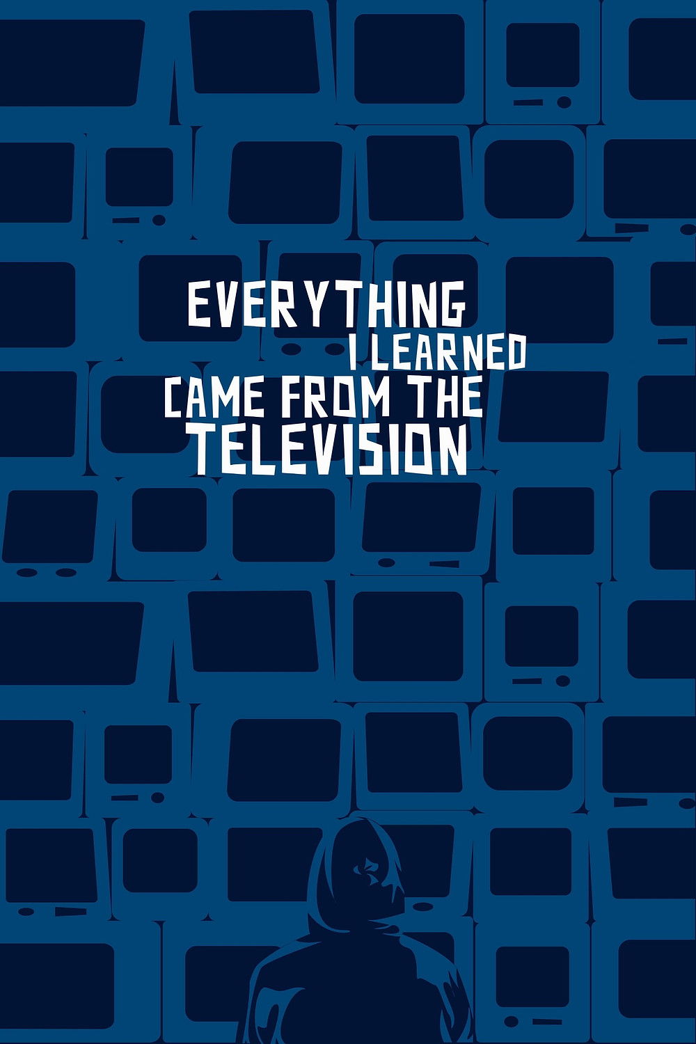 Poster for Everything I Learned Came from the Television showing animation.