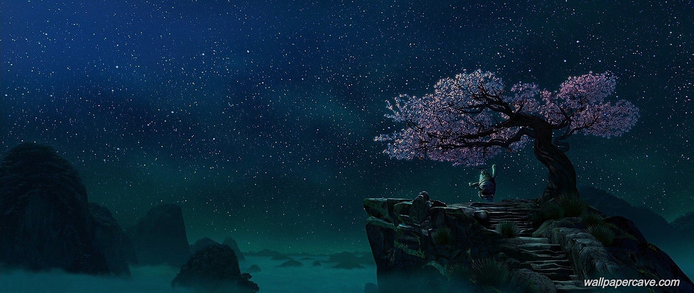 Master Oogway and Cherry Blossom