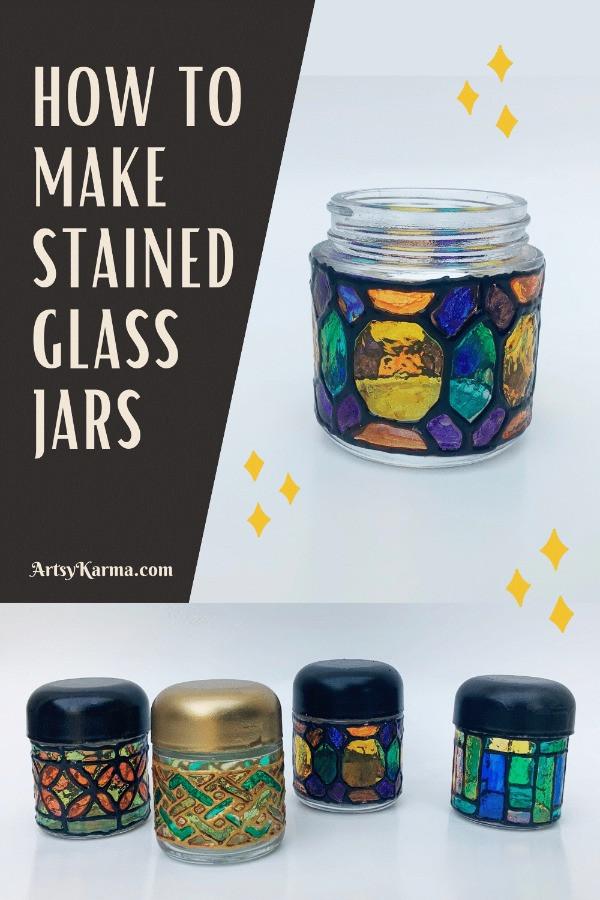 How to make glass jar lanterns