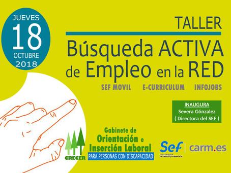 TALLER de EMPLEO (Búsqueda Activa de Empleo en la RED, Murcia 18-10-2018)