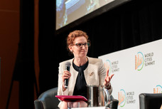 Dr Orna Rosenfeld moderates at the World Cities Summit in Singapore