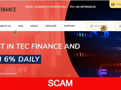 Tecfinance.biz Review (SCAM): New Paying Hyip Site Up To 16% Daily