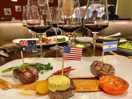 Steak & Grape Degustation, The Grill, MAF
