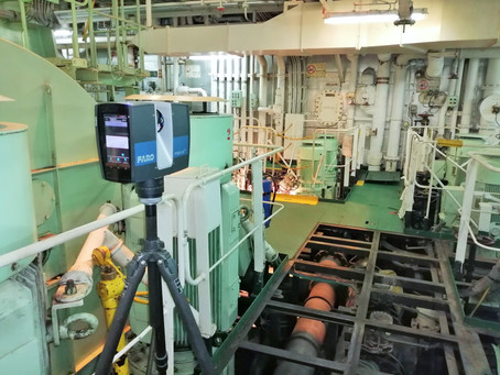 3D laser scanning for BWTS (Ballast Water Treatment) - EGCS (Exhaust Gas Cleaning) systems