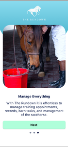 The Rundown App, stable management, horse racing app