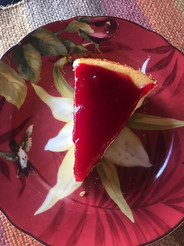 "Cranberry Eggnog Tart from Gourmet Today prepared by Adele ""not too sweet"""