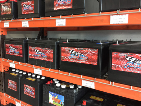 New Finish Line Batteries in Stock
