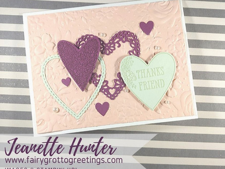 Thank You Card for Friend Using Stampin' Up! Meant to Be