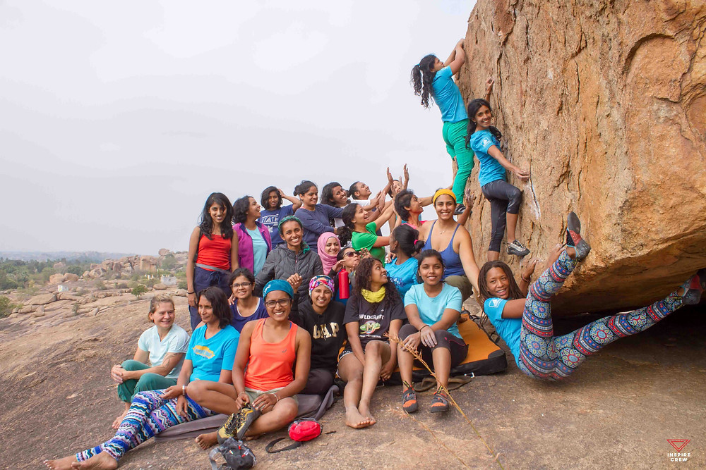 The gang hanging at C.L.A.W in Hampi, India