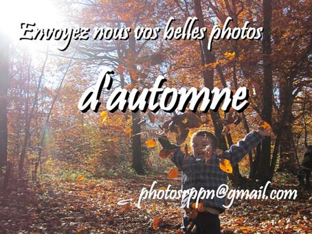 Envoyez-nous vos belles photos d'automne !