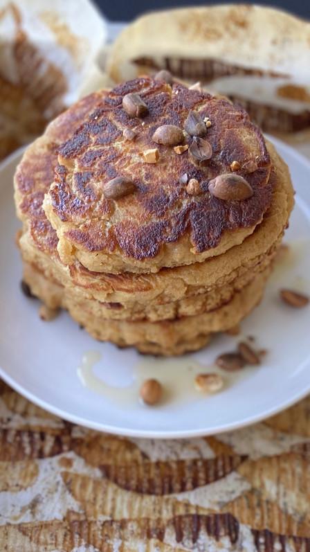 Pancakes de mantequilla de maní