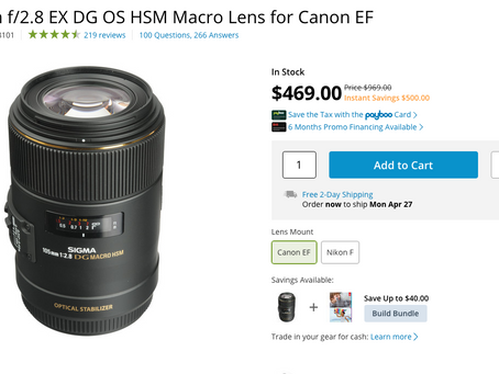 If you are looking for a Macro Lens